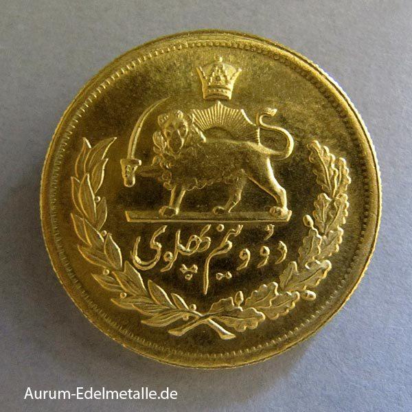 2_5 Pahlavi Goldmünze Persien 1949-1970 Sha Reza