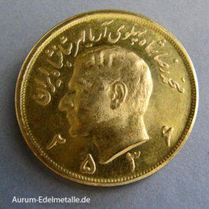 Persien 5 Pahlavi Goldmünze Sha Reza 1960-1979