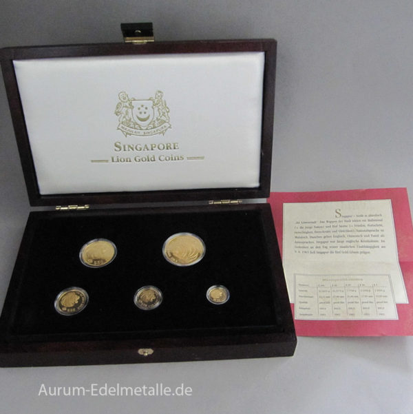 Singapur Löwen 1993 Lion Gold Coins