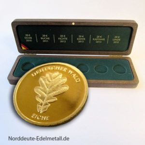 Goldmünze 2010 EICHE Feingold 999.9 inkl. Original Sammelbox