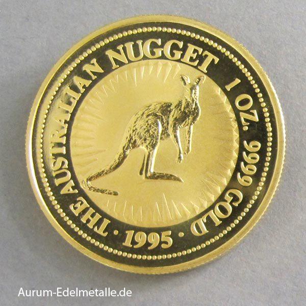 Australien 1 oz Kangaroo Nugget 1995