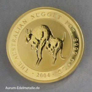 Australien 1 oz Kangaroo Nugget Goldmünze 2004