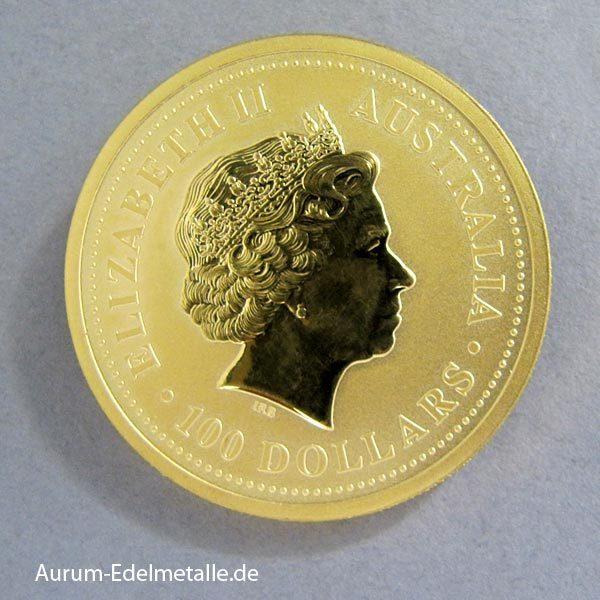 Australien 1 oz Kangaroo Nugget Goldmünze 2005