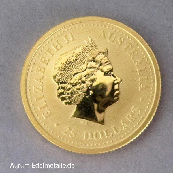 Australien 1_4 oz Goldmünze Kangaroo Nugget 2000