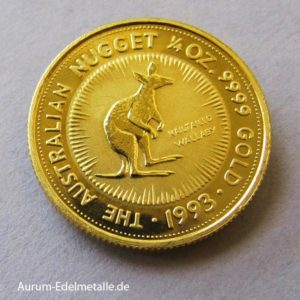 Australien 1_4 oz Kangaroo Nugget 1993 Goldmünze