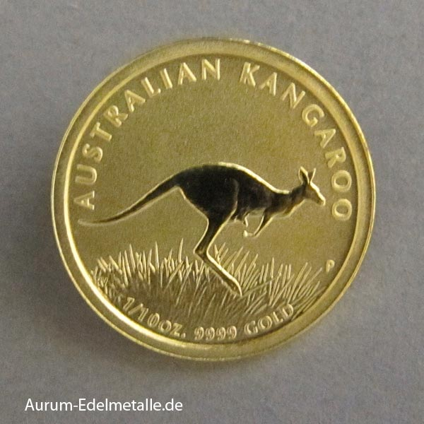 Australien Kangaroo 1_10 oz Gold 2008