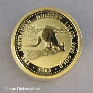 Australien Kangaroo Gold Nugget 1_10 oz 2003