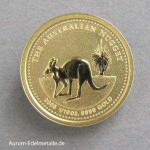 Australien Nugget 1_10 oz Kangaroo Gold 2005
