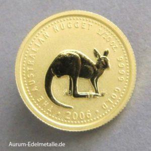 Australien Nugget 1_10 oz Kangaroo Gold 2006
