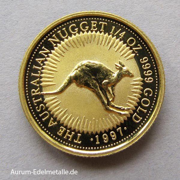 Australien Nugget 1_4 oz Kangaroo