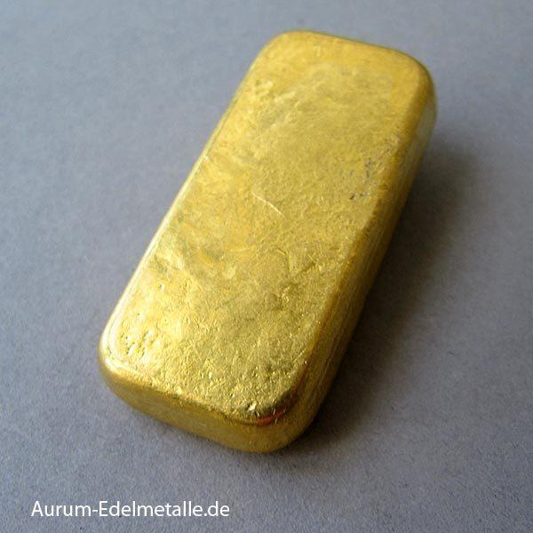 Goldbarren 100g gegossen Argor SAA Chiasso