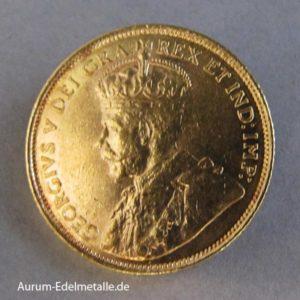 Kanada 5 Dollars 1912 König Georg V