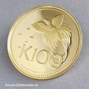 Papua-Neuguinea 100 Kina Goldmünze 1975