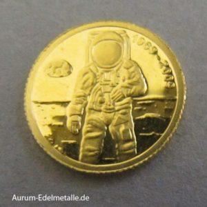 Andorra Goldmünze Mondlandung Apollo 2009