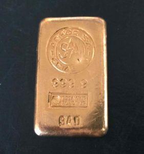 Goldbarren 200g Feingold 9999 Sammlerstueck Argor Chiasso