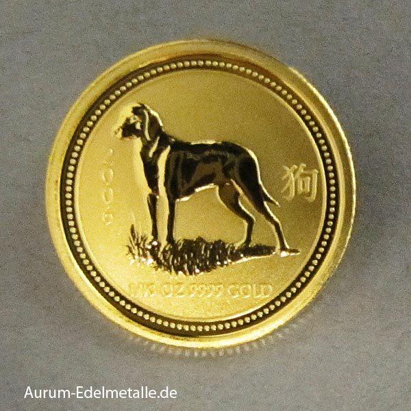 Australien Lunar I Hund 1_10 oz Feingold 2006