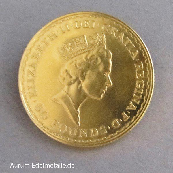 England Britannia 50 Pounds 1/2 oz Goldmünze
