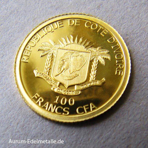 Goldmünze 100 Francs CFA African Pride 2017