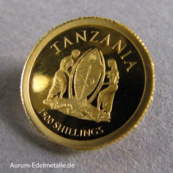 Goldmünze Tansania African Pride 2017