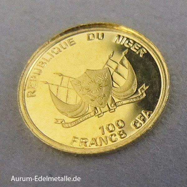 Niger Goldmünze 2014 Chinesische Mauer