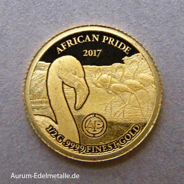 africans-pride-2017 goldmünzen Flamingo