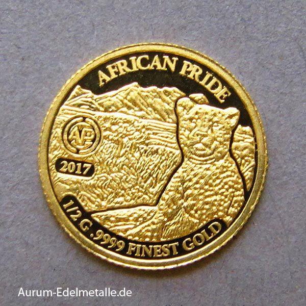 africans-pride-2017 goldmünzen Gepard