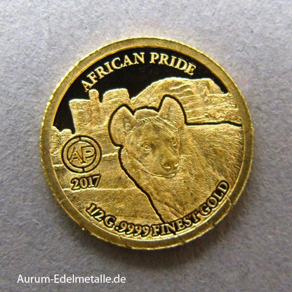 africans-pride-2017 goldmünzen Hyäne