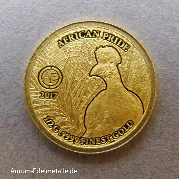 africans-pride-2017 goldmünzen Riesenturako