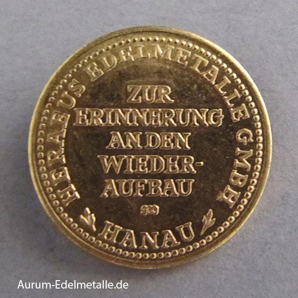 Deutschland Hanau 1956 Deutsches Goldschmiedehaus Goldmedaille