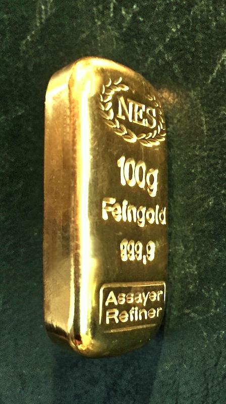 100g 9999 Feingold NES Gussbarren