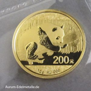 China Panda Goldmünze 200 Yuan