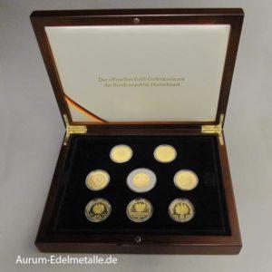 offiziellen Gold-Gedenkmünzen Bundesrepublik Deutschland 8 Münzen