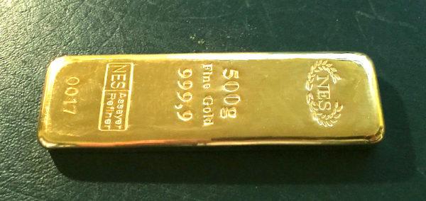 500g-Goldbarren-Feingold-9999-NES-Sargbarren