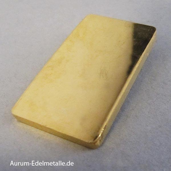 Goldbarren 50 g Heraus Feingold 9999