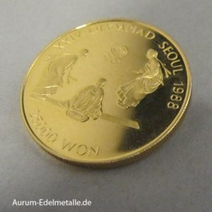 Korea Seoul Gold 25000 Won Turnen 1988