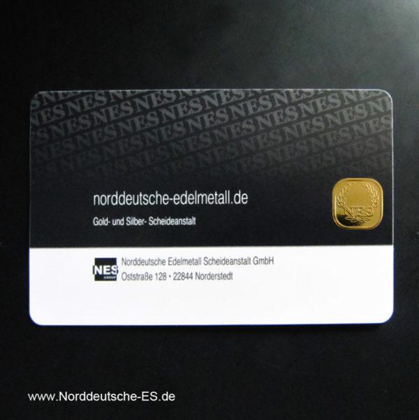 1g-Goldbarren 999.9-SecuBlist® der Norddeutschen Edelmetall