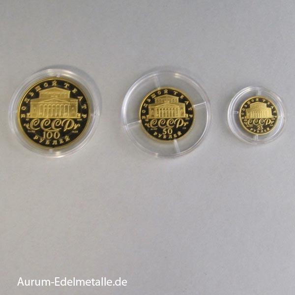 Ballerina Goldmünzen Set 1991 CCCP