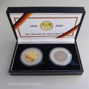 Deutschland 1 DM Gold 1950-2001 Chronik der Deutschen Mark