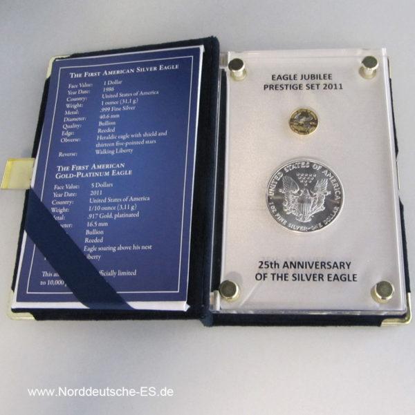 First Silver Eagle Prestige Set 2011