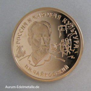 Goldmünze 100 Rubel 1993