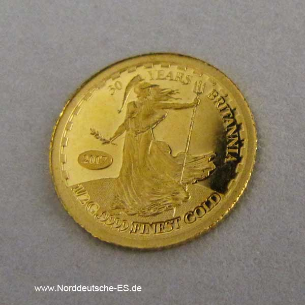 Solomon Islands Britannia 1_2 g Goldmünze 30 Jahre Britannia