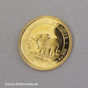 Somalia Gold Elephant 2011