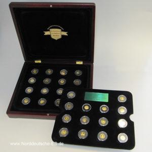 Die kleinsten Goldmünzen der Welt 30 Mini Goldmünzen