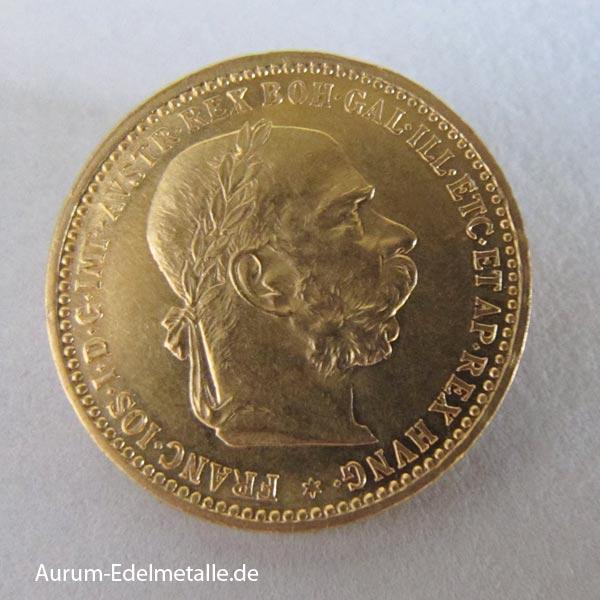 Österreich Ungarn 10 Kronen Gold Franz Joseph mit Kranz 1892-1906