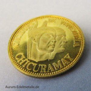 Caciques de Venezuela Gold-Medaille Chicuramay