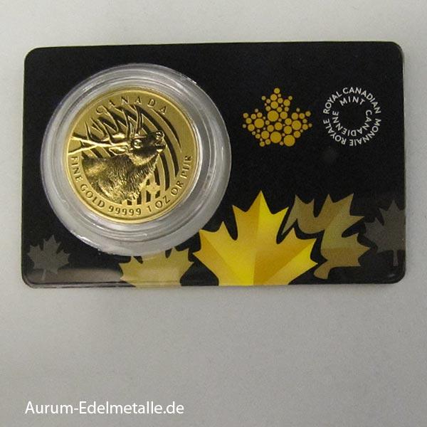 Canada 1 OZ Elk Rothirsch 2017 Goldmünze