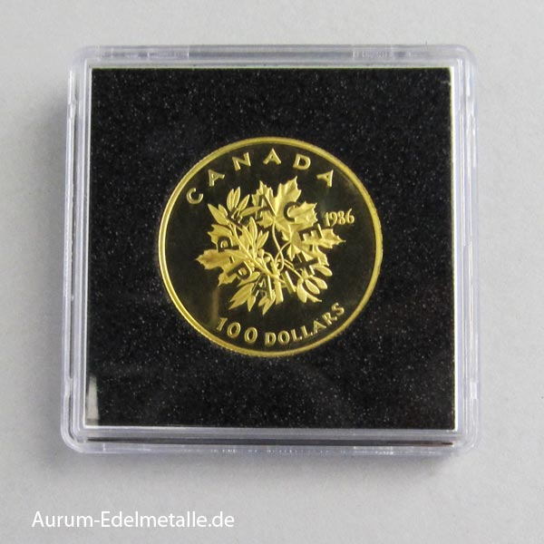 Goldmünze 100 Dollars 1986 Peace Paix