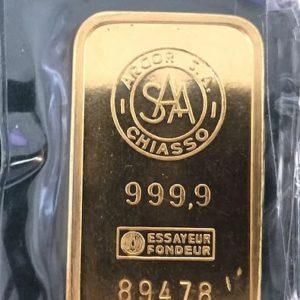 Argor Chiasso Goldbarren 100g