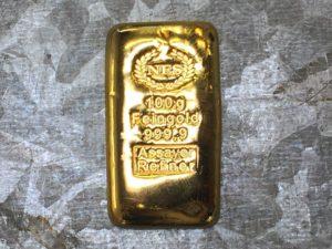 Goldbarren 100g Feingold NES 999.9