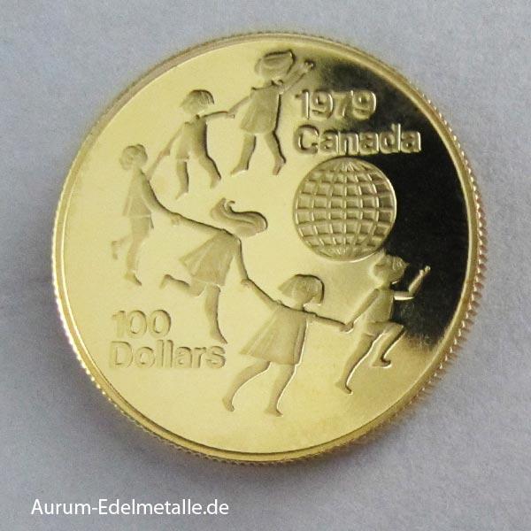 Kanada 100 Dollars Gold Jahr des Kindes 1979